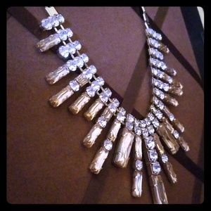 Statement necklace with rhinestones